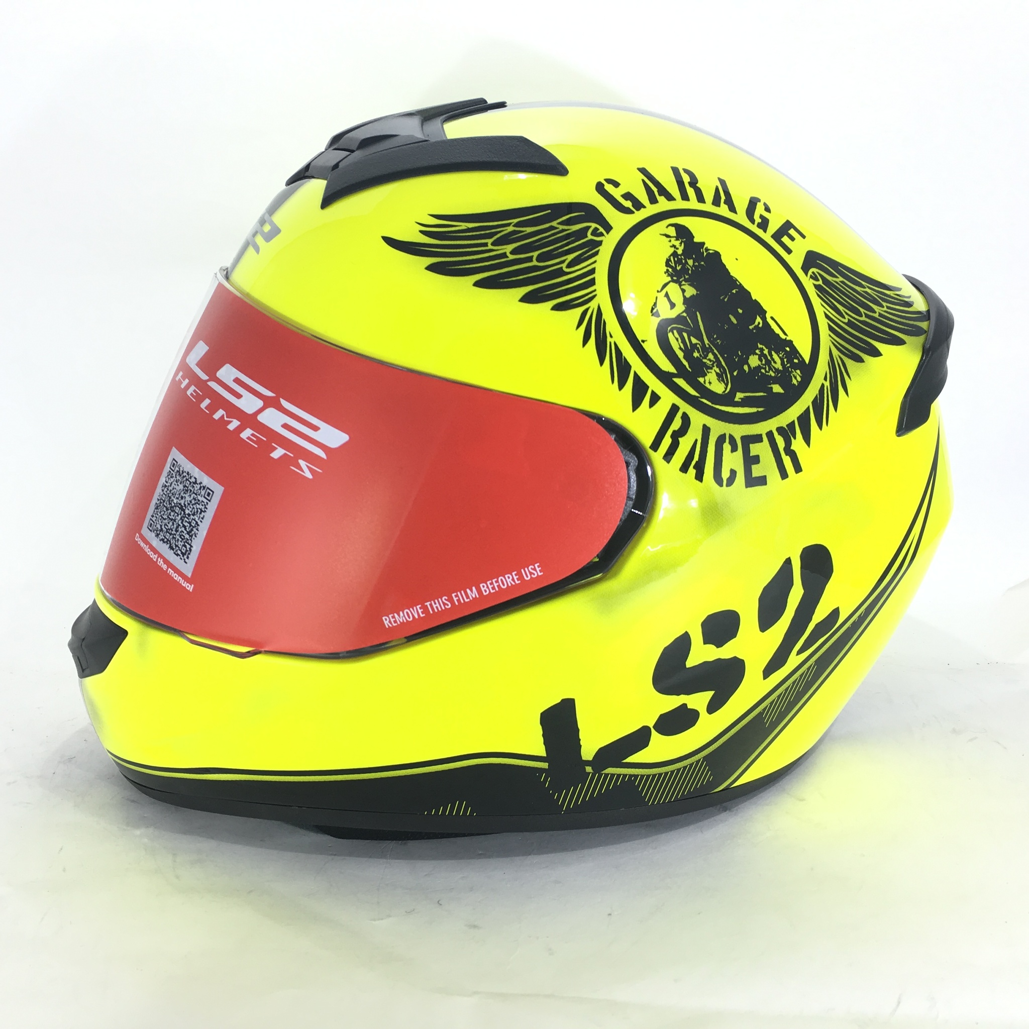 Мотошлем LS2 Rookie Fan Hi-Vis Yellow
